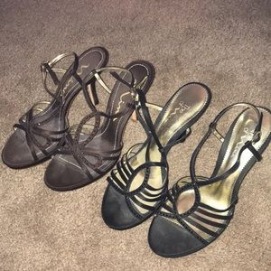 Two pairs of Nina heels size 9